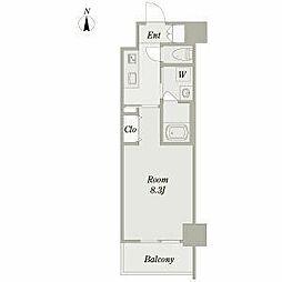 名古屋市営鶴舞線 浅間町駅 徒歩7分の賃貸マンション 5階1Kの間取り