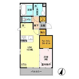 仮)D-room原木[203号室]の間取り