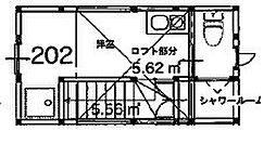 サークルハウス蒲田弐番館[202号室]の間取り