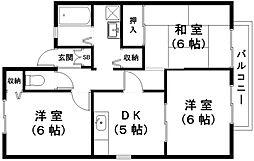 滋賀県近江八幡市多賀町の賃貸アパートの間取り