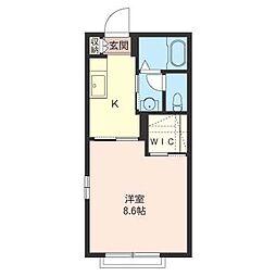 メルベーユKY・1[1階]の間取り