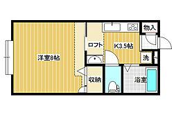 メゾンド・パルナス[1階]の間取り