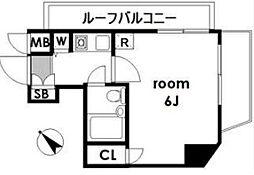 菱和パレス北新宿[6階]の間取り