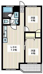 シャトレー新井[104号室]の間取り