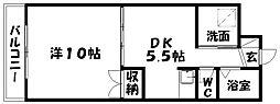 ガーデンプレイスヴィラB[5階]の間取り