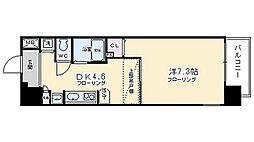 エステムコート京都河原町プレジール[506号室号室]の間取り