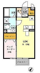 ルクリア[2階]の間取り