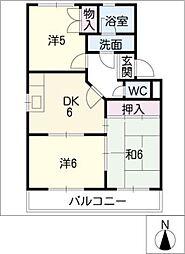 サンライズフジ(BCD)[1階]の間取り