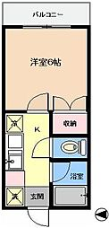 東京都江戸川区東葛西5の賃貸アパートの間取り