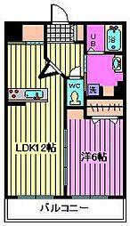 埼玉県さいたま市北区宮原町4丁目の賃貸マンションの間取り