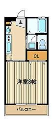 東京都練馬区東大泉7丁目の賃貸マンションの間取り