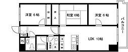 東京都足立区島根1丁目の賃貸マンションの間取り