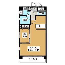 Felice Izumi[6階]の間取り