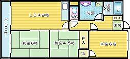 富士山荘ビル[102号室]の間取り