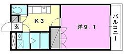 カーサフローラI[206 号室号室]の間取り