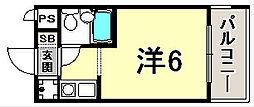 ライオンズマンション三宮[9階]の間取り