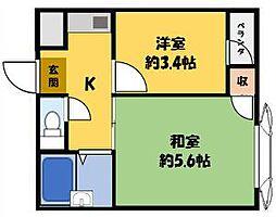 WESTヒルズ岸和田[3階]の間取り