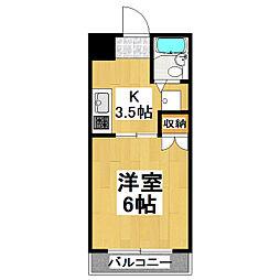 スカイコート旭[3階]の間取り