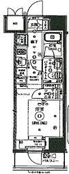 アルテシモ ピトレ 9階1Kの間取り