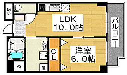 シティーコート北瓦町EX[3階]の間取り