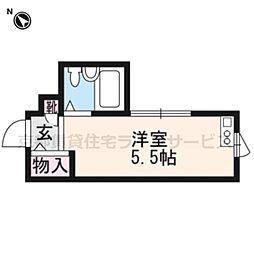 コスモ三条京阪[2階]の間取り