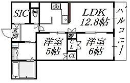 プレサンスレジェンド堺筋本町タワー[17階]の間取り
