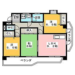 フォレストタウン[3階]の間取り