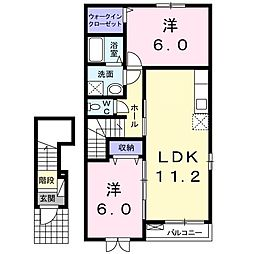 Villa鶴島[2階]の間取り