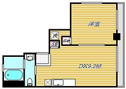華本マンション[4階]の間取り