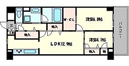 フローラル桃山台[3階]の間取り