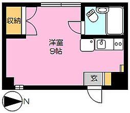 サウスコート本庄宮(家具家電付)[4階]の間取り