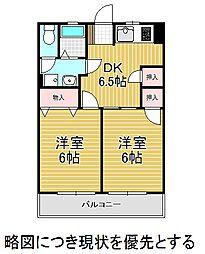 大村宮東マンション[3階]の間取り