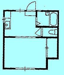 ヴィレッジ703[1階]の間取り
