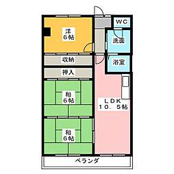 スカイハウスII[2階]の間取り