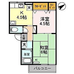 ピュアハイムII[2階]の間取り