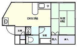 千葉県船橋市夏見台5丁目の賃貸アパートの間取り