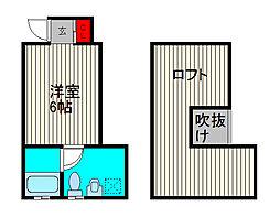isメゾン川口[2階]の間取り