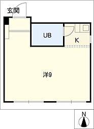 ジュネス54[3階]の間取り
