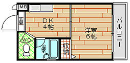プレステージ堂島[7階]の間取り