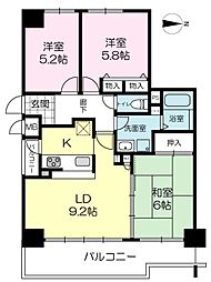 姫路シティハイツ[804号室]の間取り