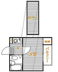 東京都練馬区旭町3の賃貸アパートの間取り
