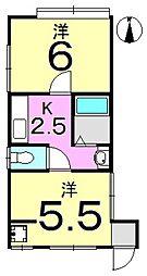 馬込荘[1F号室号室]の間取り