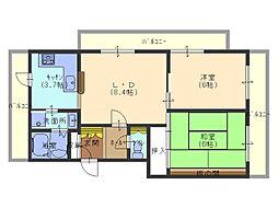 兵庫県姫路市北今宿1丁目の賃貸マンションの間取り