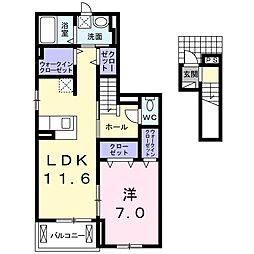 グレーシア光II[2階]の間取り