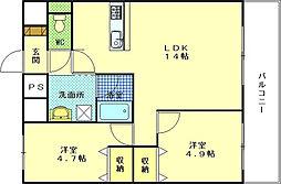 ETRE古江駅前[10階]の間取り