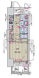Osaka Metro堺筋線 天神橋筋六丁目駅 徒歩7分の賃貸マンション 5階1Kの間取り