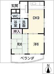 ハイツ・サンルート[5階]の間取り