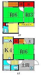 [一戸建] 東京都葛飾区柴又4丁目 の賃貸【東京都 / 葛飾区】の間取り