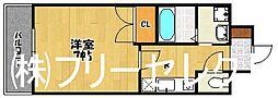 大三祇園ビル[6階]の間取り