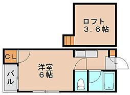 シャングリラ箱崎[1階]の間取り